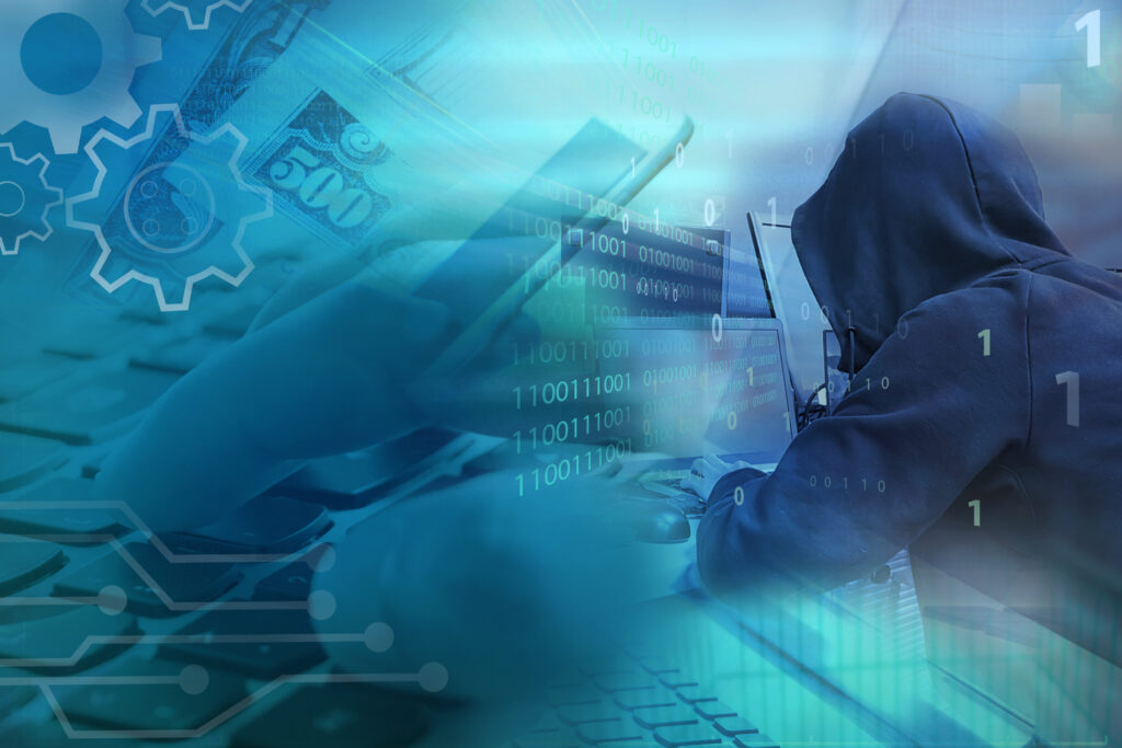 Information protection and cyber security. Modern safety digital background